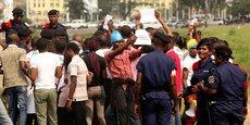 Des manifestants appelant au départ de Joseph Kabila du pouvoir, le 31 juillet dernier dans la capitale de la RDC, Kinshasa.
