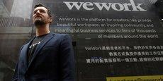 Miguel McKelvey, cofondateur de WeWork et Chief Creative Officer, pose à l'extérieur du site phare de WeWork à Hong Kong, en Chine, le 23 février 2017