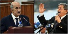 Abdelmadjid Tebboune, à gauche et Ahmed Ouyahia à droite.