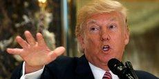 Donald Trump lors de la conférence de presse organisée au sein de la Trump Tower, à New York.
