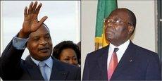 Sur proposition de son premier ministre Clément Mouamba (à droite), le chef de l'Etat congolais Denis Sassou Nguesso a procédé ce mardi à la nomination d'un nouveau gouvernement.