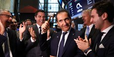 Patrick Drahi, lors de l'introduction de sa filiale Altice USA à Wall Street, en juin dernier.