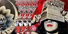 Graffiti à San Diego, illustrant le phénomène de propagande.