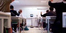 Un robot-lycéen en test dans un lycée d'Auvergne Rhône-Alpes.