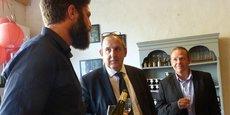 Guilhem Castan (JA) face à Thierry Perrin (Carrefour) et Johan Voisine (Intermarché)