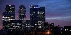 Le quartier financier de Londres à Canary Wharf n'a pas encore connu de défections majeures. Le siège de l'Autorité bancaire européenne (EBA), au centre, doit être transféré dans un pays de l'Union européenne après la sortie du Royaume-Uni.