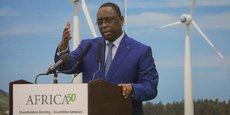 Le président sénégalais Macky Sall, lors de la cérémonie d'ouverture des travaux de la troisième assemblée des actionnaires d'Africa50, le 12 septembre 2017 à Dakar.