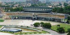 Le palais des congrès de Lomé qui abrite le siège de l'Assemblée nationale togolaise.