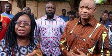 Brigitte Adjamagbo-Johnson, coordonnatrice de la coalition des quatorze partis, et Jean-Pierre Fabre, chef de file de l'opposition au Togo.