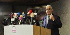 Nizar Baraka, membre du Bureau exécutif et candidat au secrétariat général du Parti de l'Istiqlal, lors de la conférence de presse, tenue le 25 septembre à Rabat.