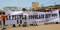 Une manifestation de l'opposition appelant au départ du président Faure Gnassingbe, le 20 septembre 2017, dans la capitale du Togo, Lomé.
