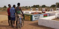 La tombe supposée de Thomas Sankara, dans le cimetière de Dagnoën, un quartier de Ouagadougou, la capitale du Burkina Faso.