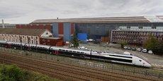 Le site Alstom de Belfort dans l'Est de la France, menacé de fermeture en 2016.