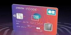 La carte sans contact biométrique, conçue par Oberthur Technologies-Morpho (devenu Idemia), est équipée d'un lecteur d'empreinte digitale. Encore au stade du prototype, elle sera testée courant 2018 avec des clients avertis.