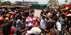Manifestation de membres des partis de l'opposition, le 20 septembre 2017 dans la capitale du Togo, Lomé.