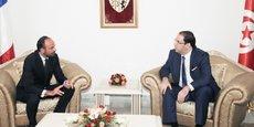 Le premier ministre français a été accueilli par son homologue tunisien Youssef Chahed lors de son arrivée à Tunis, ce jeudi 5 octobre 2017
