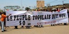 Une manifestation de la coalition des partis de l'opposition, le 20 septembre 2017 à Lomé, la capitale du Togo.