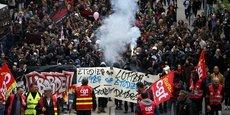 Des étudiants accompagnés des syndicats de salariés du secteur public ont manifesté ce mardi 10 octobre à Nantes.