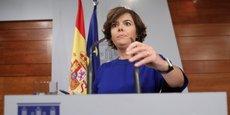 Soraya Saenz de Santamaria a souligné que le référendum du 1er octobre sur lequel s'appuie le gouvernement séparatiste pour déclarer l'indépendance était un acte illégal, entaché de fraude et sans les moindres garanties de démocratie.