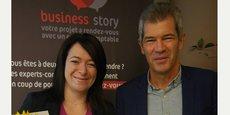 Philippe Lamouroux, président du Conseil régional de l'Ordre des experts-comptables région de Montpellier, et Rachel Aubagnac, 1 000e membre inscrite au tableau de l'Ordre.