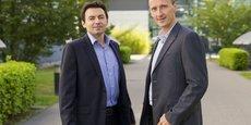 A droite, Frédéric Dupont, co-fondateur  et CEO d'Exagan.