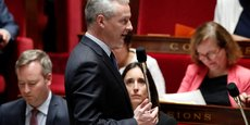 Le vote solennel sur l'ensemble du PLF est fixé au mardi 21 novembre. (En photo, Bruno Le Maire, ministre de l'Economie à l'Assemblée nationale)