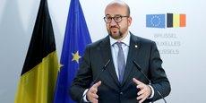 Charles Michel, hier, lors du sommet des chefs d'État et de gouvernement de l'Union européenne, réunis à Bruxelles du 19 au 20 octobre 2017 pour examiner la question migratoire.