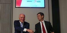 Alain Rousset, président du Conseil régional de Nouvelle-Aquitaine et Nicolas Dufourcq, directeur général de Bpifrance