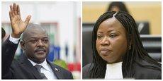 A gauche, président du Burundi Pierre Nkurunziza. A droite, Fatou Bensouda, procureure générale de la Cour pénale internationale.