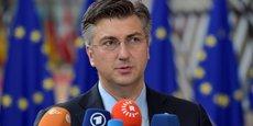 Le Premier ministre de la Croatie, Andrej Plenkovic (ici, le 23 juin à Bruxelles) a tenu une conférence ce matin à Zagreb pour indiquer son intention de rallier la zone euro d'ici sept à huit ans.