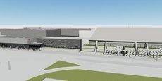 Vision 3D de la future aérogare (5 700 m2), dans le prolongement Nord de l'actuelle
