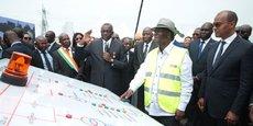 Le président ivoirien Alassane Ouattara lors de l'inauguration du barrage de Soubré.
