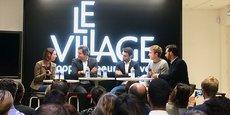 Emmanuel Marill (2e en partant de la gauche) a été interrogé par 4 dirigeants de startups bordelaises