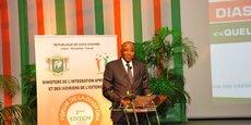 Le Premier ministre ivoirien, Amadou Gon Coulibaly, lors de l'ouverture des travaux de la seconde édition du Forum de la diaspora ivoirienne, le 22 mai 2017 à Abidjan.