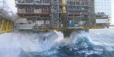 Plateforme pétrolière offshore en Mer du Nord.