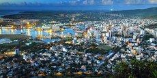 Vue aérienne d'un pôle économique de l'Île Maurice