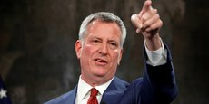 le maire de New York Bill de Blasio affiche ses ambitions climatiques
