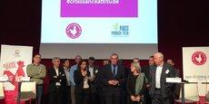 Philippe Saurel et les lauréats du Pass French Tech