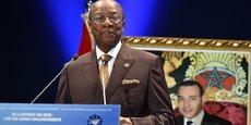 Le président guinéen et président en exercice de l'UA, Alpha Condé, lors de son intervention aux Medays, qui se sont ouverts ce mercredi 8 novembre à Tanger, au Maroc.