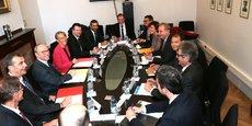 Elisabeth Borne, ministre des Transports lors de sa visite à Toulouse le 10 novembre en réunion avec les élus locaux au sujet de la LGV.