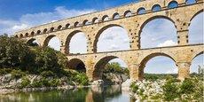 Le Pont du Gard est l'un des 8 sites remarquables classés au Patrimoine mondial de l'Unesco en Occitanie.