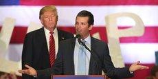 Donald Trump Jr et son père, Donald Trump, alors candidat à la Maison-Blanche en 2016.