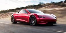 Ce roadster est encore au stade de concept. Il sera lancé en 2020 avec une autonomie de 1000 km et une accélération record de 1,9 secondes pour le 0 à 100 km/h.