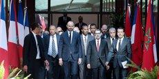 Le Premier ministre français Edouard Philippe accueilli à Rabat par le Chef du gouvernement marocain, Saâdeddine El Othmani.