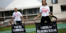 L'organisation écologiste a organisé le soir même une protestation afin de marquer symboliquement son accusation, en dressant des dizaines de croix blanches devant le Parlement à Brasilia.