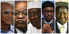 Alpha Condé ; Jacob Zuma ; Idriss Deby ; Muhammadu Buhari ; et Yoweri Kaguta Musveni.