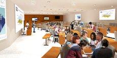 Une projection de ce que sera le futur amphithéâtre de l'INP Toulouse.
