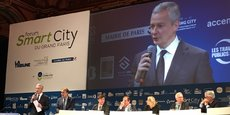 Bruno Le Maire s'exprimant au Forum Smart City de Paris.