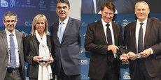 De gauche à droite, Jean-Michel Royo (Arkea Banque Entreprises et Institutionnels), Arlette Fructus et Daniel Sperling (Mairie de Marseille), Christian Estrosi (Métropole Nice Côte d'Azur), Philippe Monloubou (Enedis).