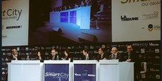 Table ronde L'IA et les data permettront-elles de mieux vivre en ville ? lors du Forum Smart City du Grand Paris de 2017.
